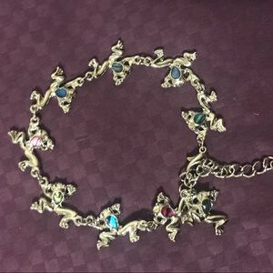 Jewelry - Silver Jumping Frogs Bracelet with Abalone